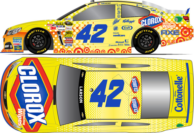 2014 Kyle Larson 1/64th Clorox Pitstop Series car