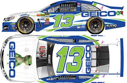 2014 Casey Mears 1/64th Geico Pitstop Series car