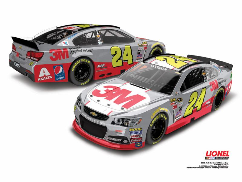 "2015 Jeff Gordon 1/64th 3M ""Science Applied To Life"" ""Race Day"" Pitstop Series car"