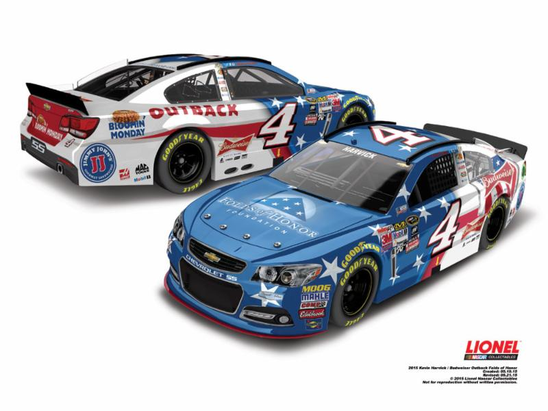 2015 Kevin Harvick 1/64th Folds of Honor/Outback/Bud Pitstop Series car