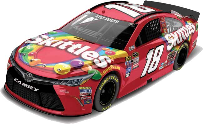 2016 Kyle Busch 1/64th Skittles Pitstop Series car