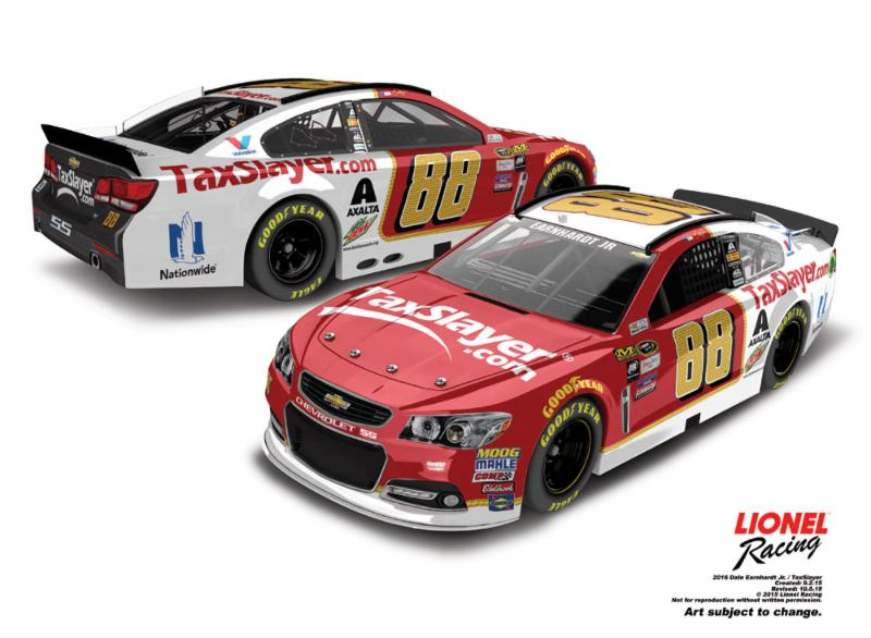 2016 Dale Earnhardt Jr 1/64th TaxSlayer.com Pitstop Series car