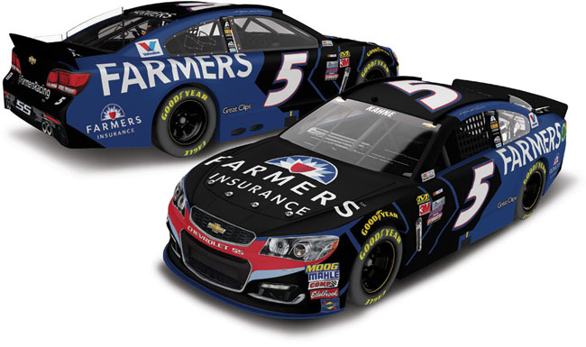 2017 Kasey Kahne 1/64th Farmers Insurance Pitstop Series car