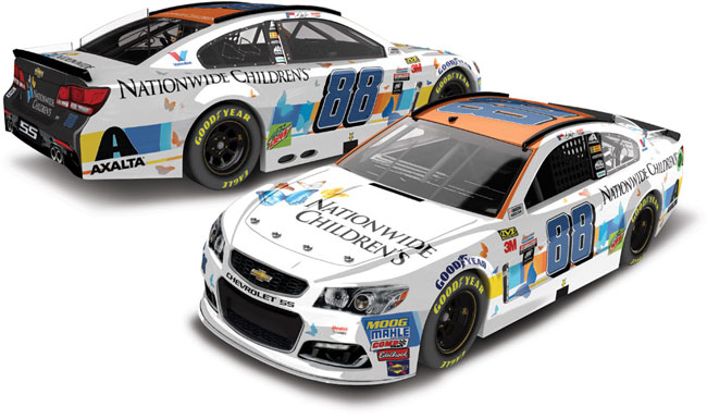 2017 Dale Earnhardt Jr 1/64th Nationwide Children's Hospital Pitstop Series car
