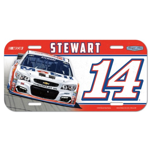 2016 Tony Stewart Mobil1 plastic license plate